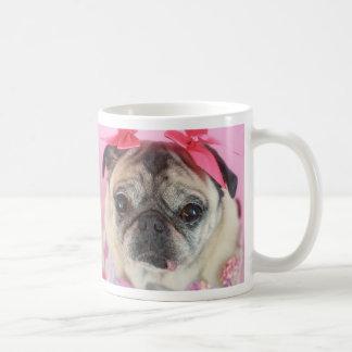 少しパグの女の子のマグ コーヒーマグカップ