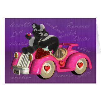 少しピンク車のスカンク、fのかわいく小さいスカンク カード