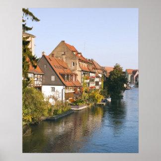少しベニス(Klein Venedig)および川Regnitz ポスター