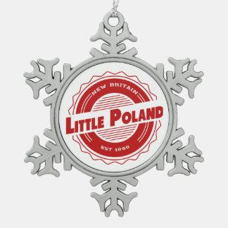 少しポーランドのクリスマスのオーナメント スノーフレークピューターオーナメント