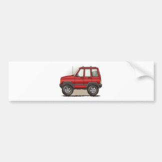 少し四輪SUV車 バンパーステッカー