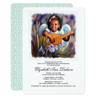 少し天使の聖餐式の招待状 カード