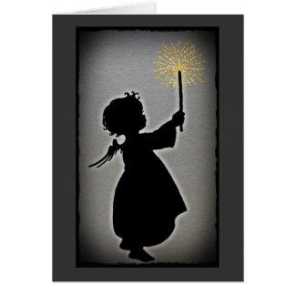 少し天使は彼女の軽い輝やきを可能にします カード