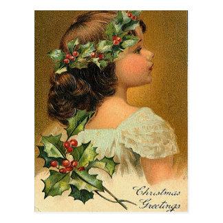 少し天使-クリスマスの挨拶状 ポストカード