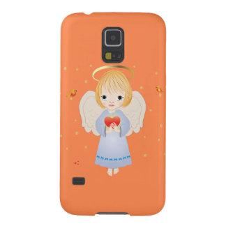 少し天使、Samsungの銀河系S5の箱 Galaxy S5 ケース