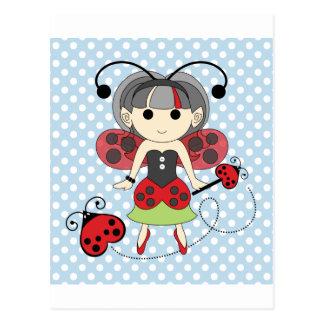 少し失敗のてんとう虫の妖精のプリンセスおよび虫の細い棒 ポストカード