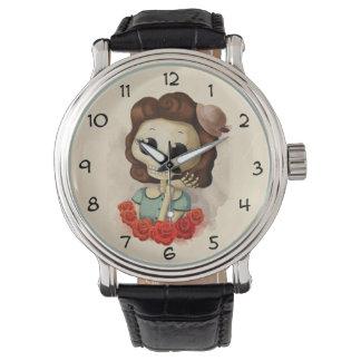 少し失敗の死およびバラ 腕時計