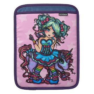 少し失敗Deelishの妖精のユニコーンのプリンセスのファンタジー iPadスリーブ