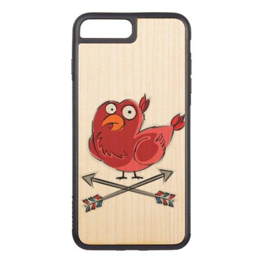 少し小鳥のイラストレーション CARVED iPhone 8 PLUS/7 PLUS ケース