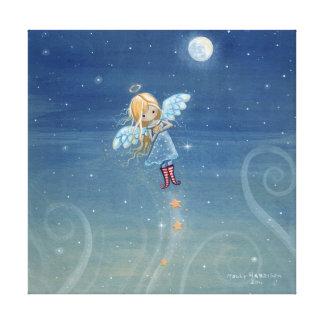 少し星の天使のキャンバスのプリント キャンバスプリント