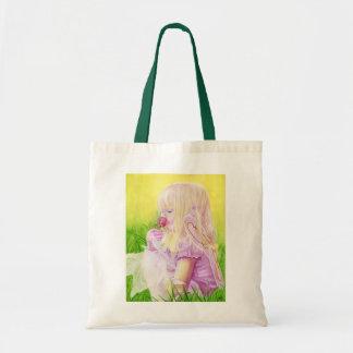 少し春の妖精バラのバッグ トートバッグ