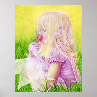 少し春の妖精バラポスター ポスター