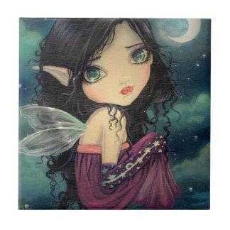 少し月の大きい目の妖精のファンタジーの芸術 タイル