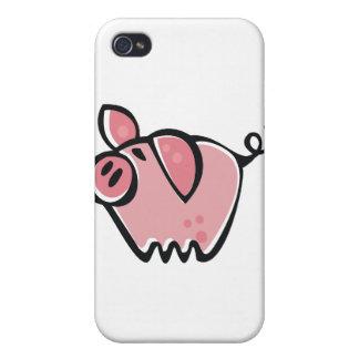 少し漫画のピンクPiggie iPhone 4 Cover