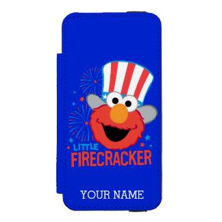 少し爆竹Elmoは|あなたの名前を加えます iPhone SE/5/5sウォレットケース