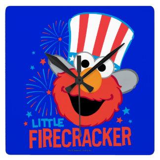 少し爆竹Elmo スクエア壁時計