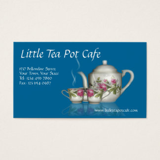 少し茶ポットのカフェの名刺 名刺