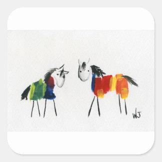 少し虹の子馬 スクエアシール