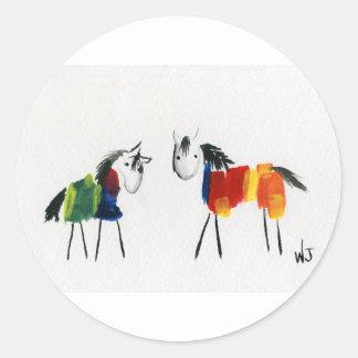 少し虹の子馬 ラウンドシール