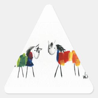 少し虹の子馬 三角形シール