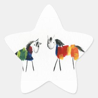 少し虹の子馬 星シール