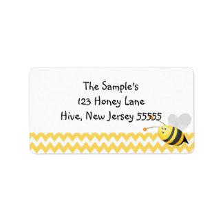 少し蜂蜜のラベル 宛名ラベル