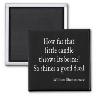 少し蝋燭は行為のシェークスピアのよい引用文を照らします マグネット
