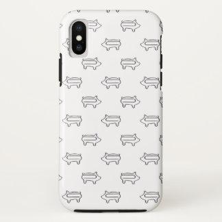 少し豚のようなペーパークリップパターン かわいい動物 iPhone X ケース