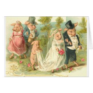 少し豚のような結婚式 カード