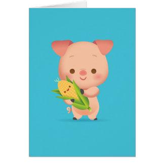 少し豚のようなNotecard ノートカード