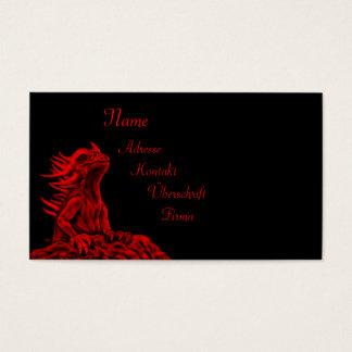 少し赤いドラゴン 名刺