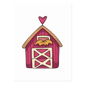 少し赤い納屋 ポストカード