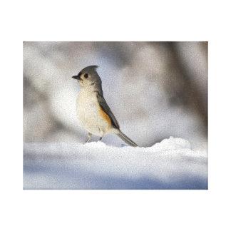 少し雪の鳥 キャンバスプリント