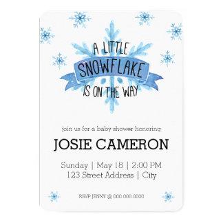 少し雪片のベビーシャワーの招待状 カード