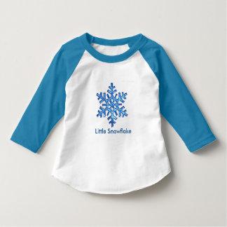 少し雪片ジャージー Tシャツ