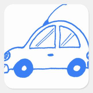 少し青い車 スクエアシール