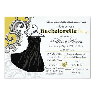 少し黒い服のバチェロレッテの招待 12.7 X 17.8 インビテーションカード