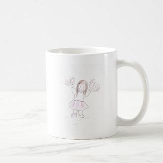 少しBrunnetteのチアリーダーの女の子 コーヒーマグカップ