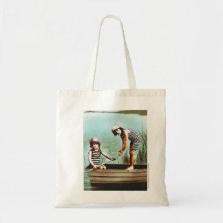 少しEdwardianのビーチ日の芸術家のトートバック トートバッグ