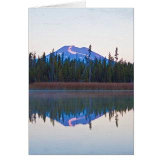 少しlava湖、オレゴンからのMtの独身 カード