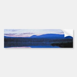 少しlava湖、オレゴンの夜明け バンパーステッカー