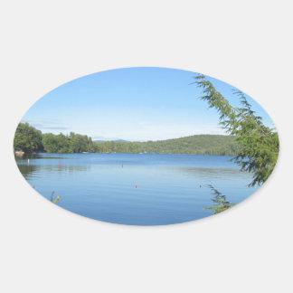 少しSquam湖 楕円形シール