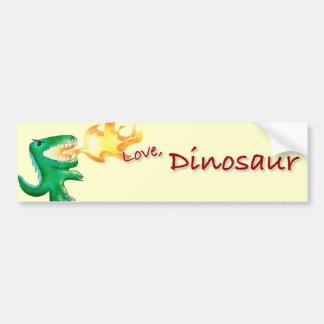 少しtおよびアンドリューHarmon著恐竜かドラゴン バンパーステッカー
