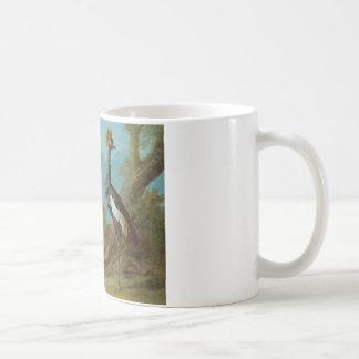 少女クレーン、Toucanおよび房状のクレーン コーヒーマグカップ
