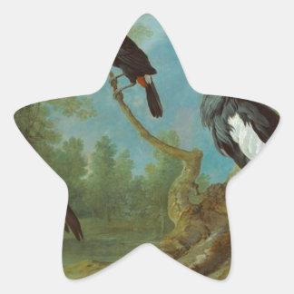 少女クレーン、Toucanおよび房状のクレーン 星シール