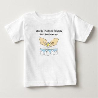 少数の卵を割って下さい ベビーTシャツ