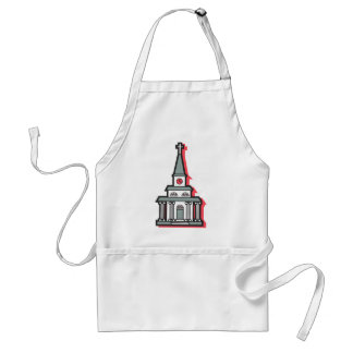尖塔が付いている少し教会 スタンダードエプロン
