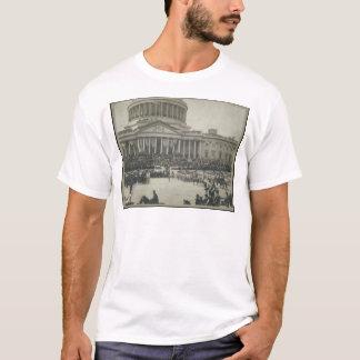 就任の宣誓を取っているセオドア・ルーズベルト大統領 Tシャツ