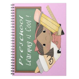 就学前に民族に女の子の学ぶことはクールなノートです ノートブック
