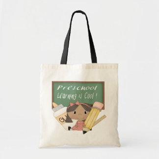 就学前に民族に女の子の学ぶことはクールなバッグです トートバッグ